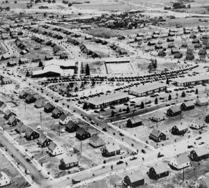 An aerial view of Levittown, NY.